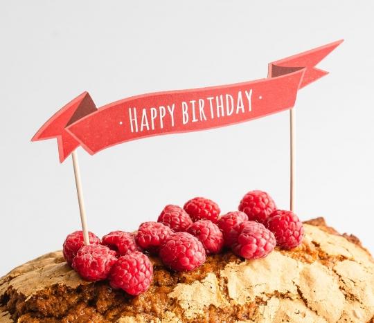 Topper per torte: Happy Birthday