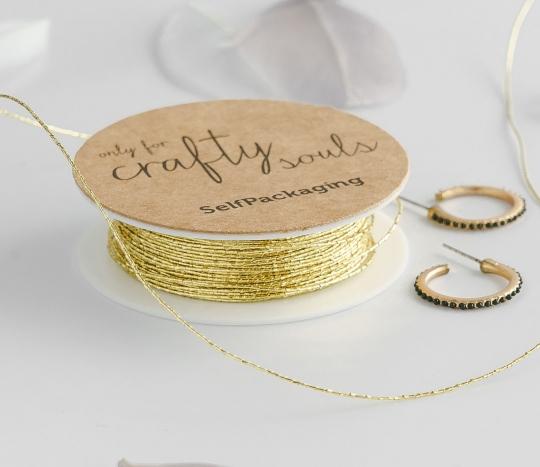 Cordón dorado para regalos
