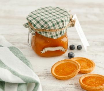 Tarro de cirstal para mermelada