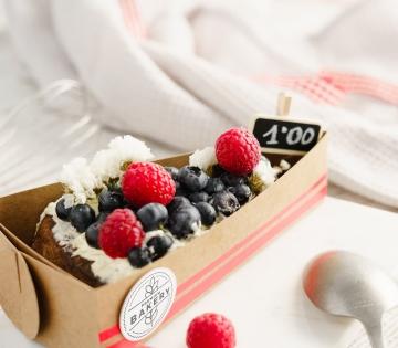 Caja para porción de tarta