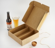 Flat box with beer holder