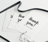 "A6 ""thank you"" card."