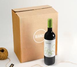 Box for bottles of cava