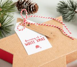 Etiketten für Weihnachtsgeschenke