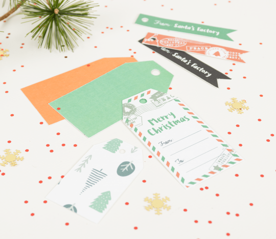 Christmas labels kit