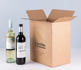 Caja para botellas de cava o vino