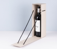 Triangular bottle gift box