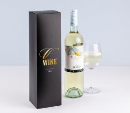 Basic single wine bottle box.