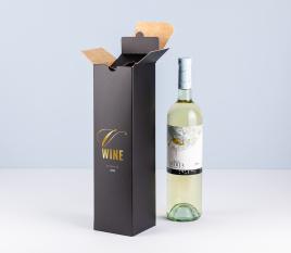 Individuelle einfache Weinschachtel