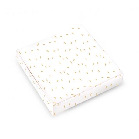Caja con textura de confetti