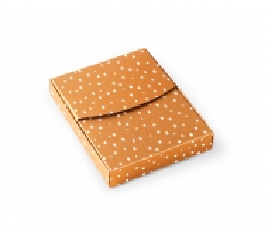 Caja con textura de puntos