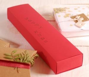 Idee, rechteckige Weihnachtsschachtel für Briefe