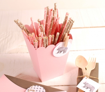 Pencil box decoration with accessories
