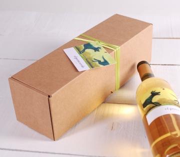 Dekoration für längliche Weinschachtel