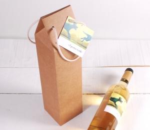 Decorazione scatola per vino con manici