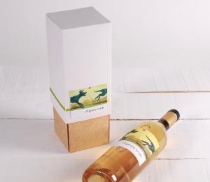 Decorazione scatola per vino con folder