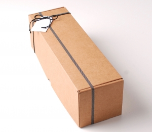 Decorazione semplice scatola per vino allungata