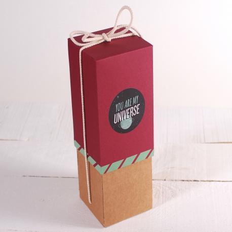 Decorazione originale scatola per vino con folder
