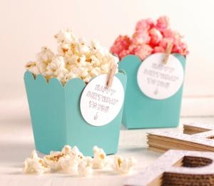 Decorazione con accessori scatola popcorn