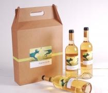Caja de vinos con asa