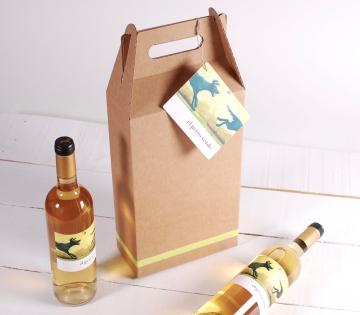 2 bottle wine box decoration