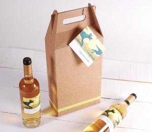 Decorazione scatola pack da 2 bottiglie di vino