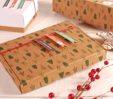 Decorazione scatola natalizia piatta