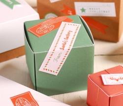 Decorazione natalizia scatola quadrata