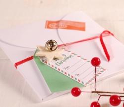 Flat Christmas envelope box decoration