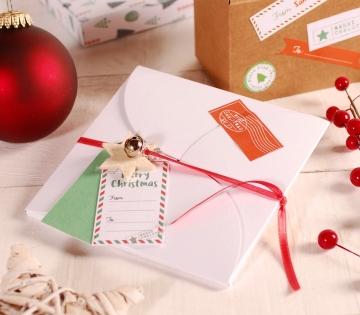 Flat Christmas envelope box decoration
