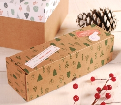 Decoración caja alargada de Navidad