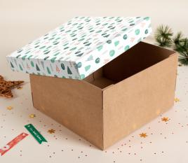 Caja para sombreros Navidad Caja para sombreros Navidad ee7294affa2