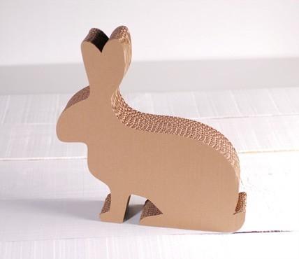 Coniglio in cartone