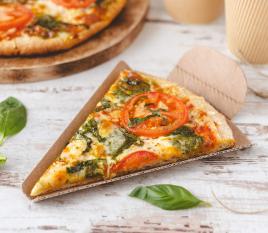 Cuña porción de pizza