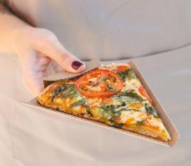 Eckstück für Pizzaportion