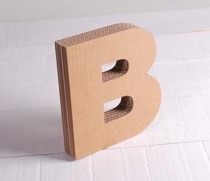 Letras de Cartón Mayúsculas