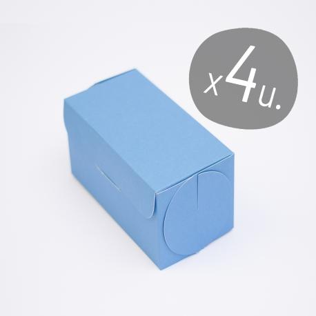 Set da 4 scatole per cupcake con coperchio in cartone