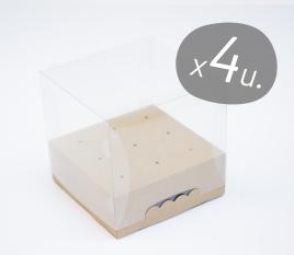 Pack de 4 cajas cuadradas para Cake Pops