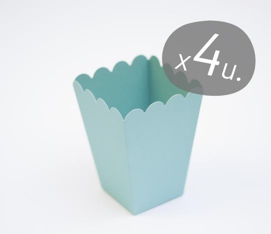 Pack de 4 cajas para palomitas