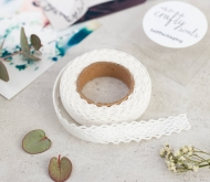 Fabric tape di pizzo ricamato