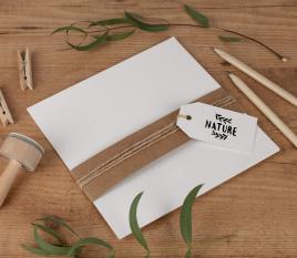Recycling-Karten aus Karton 16,5 x 16,5 cm