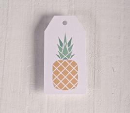 """Bedruckte Etiketten """"Ananas"""""""