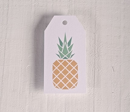 Printed labels Pineapple