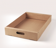 Cardboard box for fruits and vegetables.