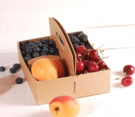 Cardboard box for berries.
