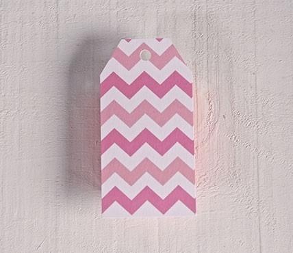 Etichetta fantasia zig-zag rosa