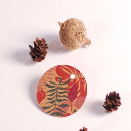 Etiquetas redondas colección Blossom