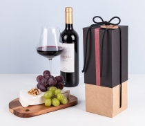 Bottle Gift Box with lid/tie
