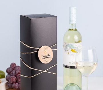 Black matt wine box