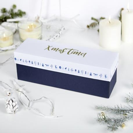 Caja de vino navideña